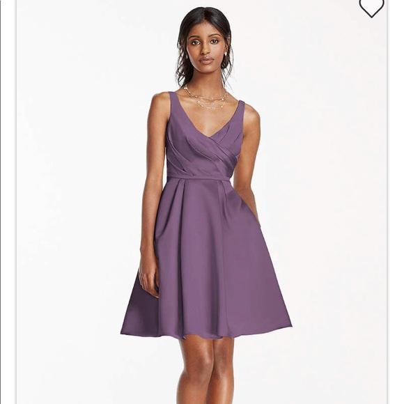 David\'s Bridal Dresses   Satin Tank Dress With Short Ball Gown Skirt ...